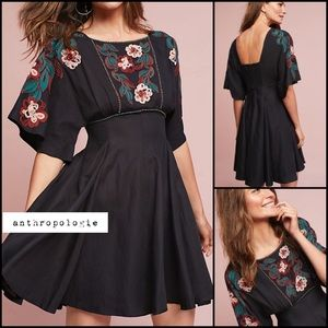 Anthropologie Priscilla Embroidered Dress NWT Sm